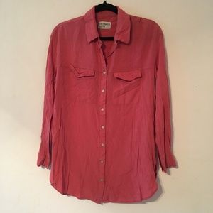 Cotton On pink button down top